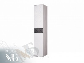 Пенал Кимберли ПН-16 ясень белый-белый глянец