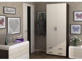 Шкаф Дуэт 2-х дверный с 2-мя ящиками Венге/Белфорт