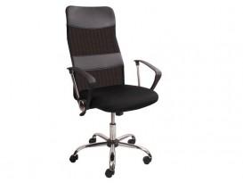 Кресло офисное Мастер GTPH Ch1 хром w01-t01 черное