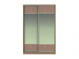Фасад Жаклин Вариант 4: МВ (вставки ЛДСП + Зеркало) + МВ (вставки ЛДСП + Зеркало)