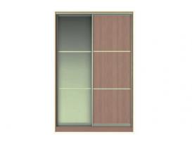 Фасад Жаклин Вариант 8: МТЛ (ЛДСП, разделенное на 3 части) + МТЗ (Зеркало, разделенное на 3 части)