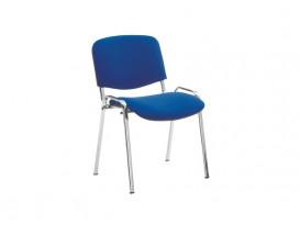 Стул офисный Изо хром S6 ткань синяя
