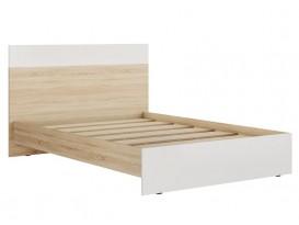 Кровать 1400 Лайт Кр-44 Дуб Сонома-Белый