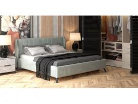 Кровать Мелисса с подъемным механизмом Серебристый серый