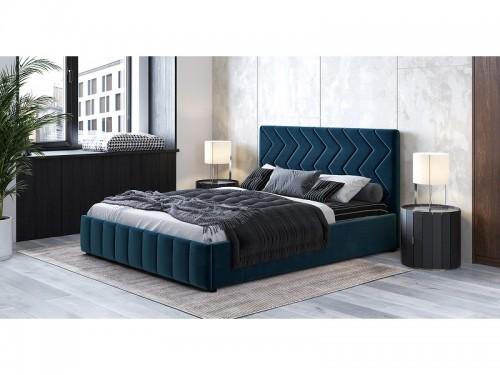 Кровать Милана с подъемным механизмом Полуночно-синий