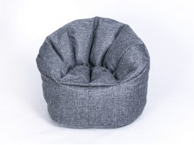 Кресло-пуф Relax рогожка серый