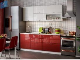 Кухня Модерн 2,0 Белый  / Гранат металлик